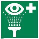 Jälkivalaiseva kyltti, silmäsuihku, 150x150 mm, alumiini, 10-pakk