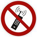 Kieltokilvet, matkapuhelimen käyttö kielletty, Ø200 mm, alumiini, 10-pakk