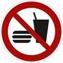 Kieltokilvet, syöminen ja juominen kielletty, Ø200 mm, muovia, 10-pakk