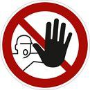 Kieltokilvet, asiattomilta pääsy kielletty, Ø200 mm, alumiini, 10-pakk