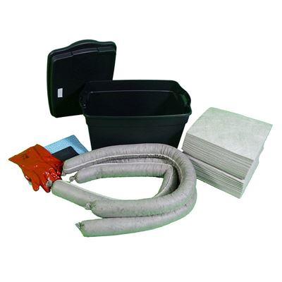 Vuodontorjuntapakkaus laatikossa, 50 litraa, universal, harmaa