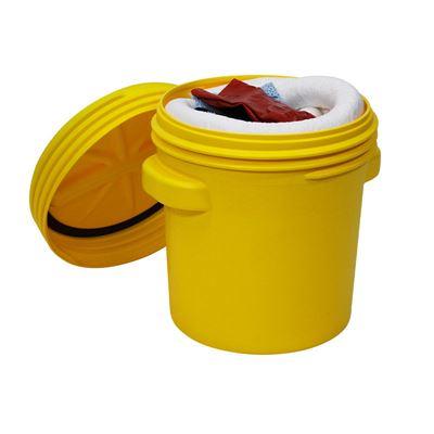 Vuodontorjuntapaketti turvatynnyrissä, 75 litraa, öljy, ulkokäyttöön, valkoinen, hinta ostaessasi väh. 5 kpl