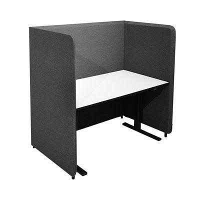 Työpistesermi Domo, U-malli, K 1450 mm, 1400x800 pöydälle, jalat sis., tummanharmaa