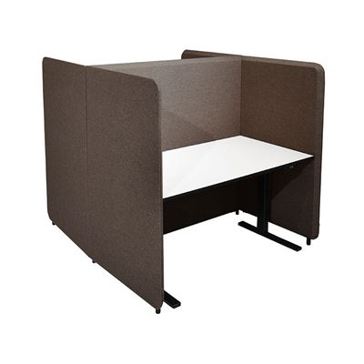 Työpistesermi Domo, H-malli, K 1450 mm, 1400x800 pöydälle, jalat sis., ruskea