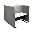 Työpistesermi Domo, H-malli, K 1450 mm, 1400x800 pöydälle, jalat sis., harmaa
