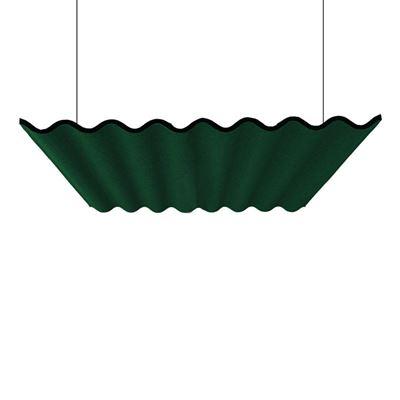 Akustiikkapaneeli Scala, kattoon, ilman valaisinta, PxLxS 1600x1207x60 mm, vihreä